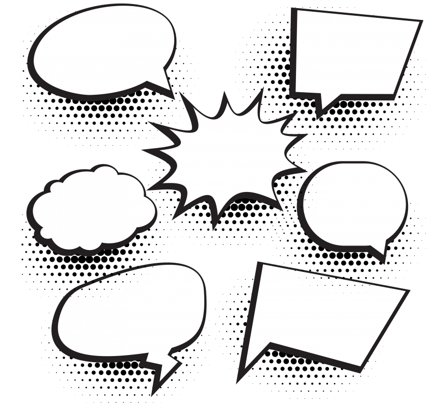 Speech Bubbles With Halftone Dot - Photo #241 - PNG Images